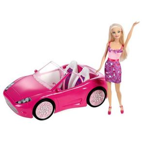 Barbie-Doll-And-Glam-Convertible-Vehicle-Set