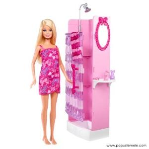 Barbie-Doll-Glam-Shower-Caucasian-Doll-Set1