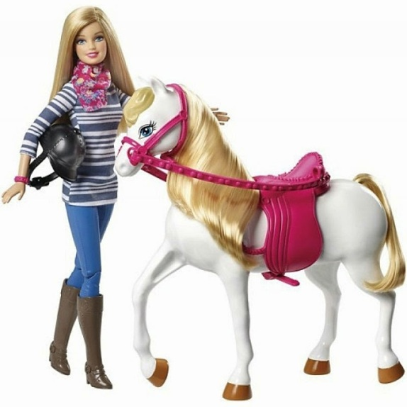 2015_Barbie_and_Horse_Giftset_Playset_Doll_New
