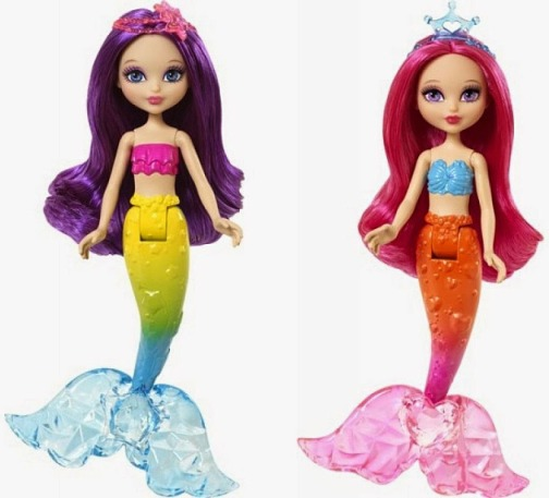 2015_Barbie_Mini_Mermaid_Pink_Orange_Purple_Blue_Green